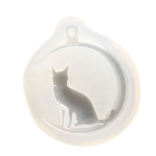 Cat On The Moon Silicone Resin Mold For Diy Jewelry Pendant Mould @cc