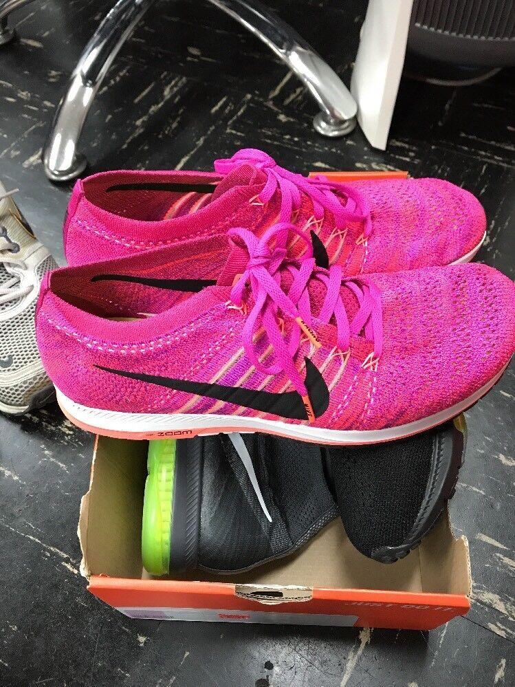 Nike Flyknit Streak Sz 10.5 100% Authentic Running Training Fireberry 835994 600