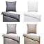Bettwaesche-135x200-Damast-Beige-Streifen-2tlg-Bettgarnitur-Bettbezug Indexbild 1