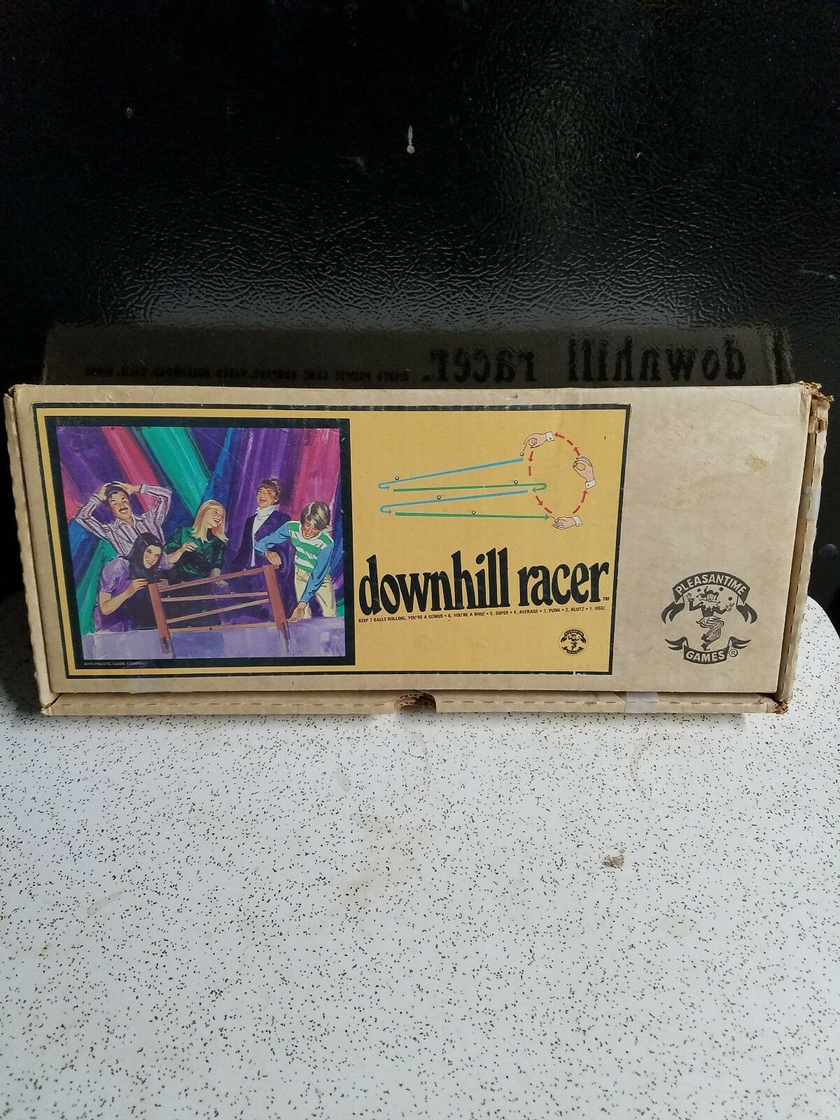 Vintage 1974 Downhill Racer -Pleasantime Games - Pacific Game Co.  Metal Marbles