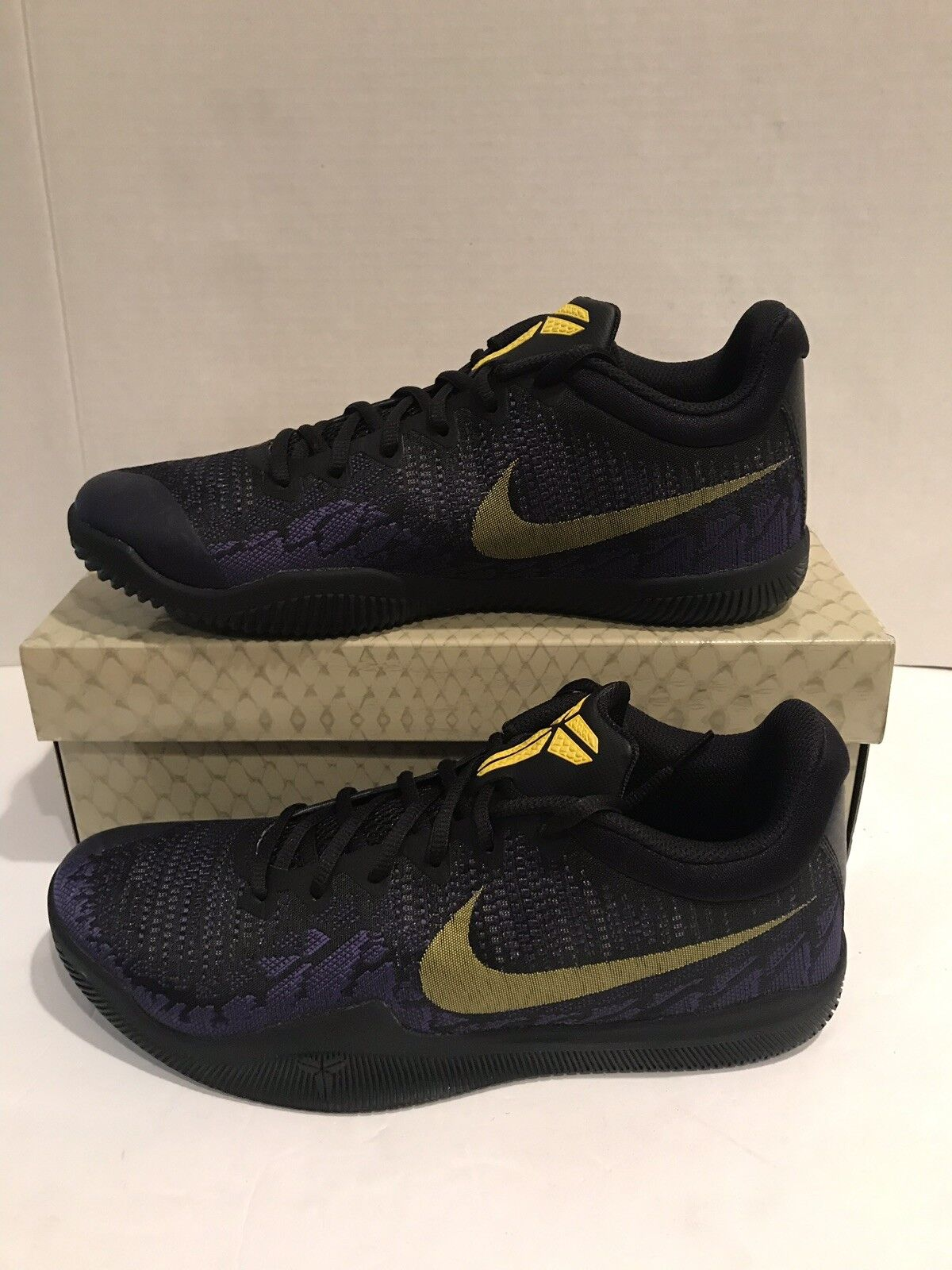 NIKE Men's Kobe Mamba Rage Basketball shoes Black Tour Yellow Purple  908972-024