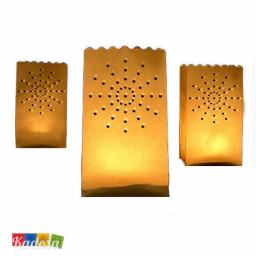 Candle Bag Sacchetti Luminosi Carta 10 Lanterne Luminose SOLE Porta Tea Light