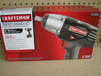 "Craftsman C3 19.2-Volt Cordless 1 2"" Impact Wrench Kit model# CK17339 Tools and Accessories"