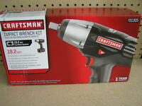 Craftsman 19.2v Cordless 1/2 Impact Wrench Kit W Nicad Battery & Charger