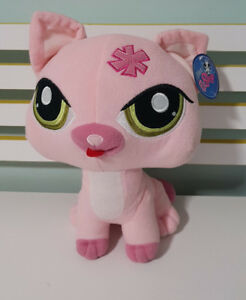 LITTLEST-PET-SHOP-LPS-PINK-CAT-30CM-WITH-TAGS-2014-HASBRO-CHILDREN-039-S-TOY