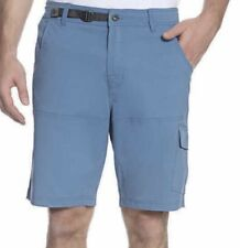 Gerry Men's Venture Cargo Shorts With Belt Canal Blue Size 32