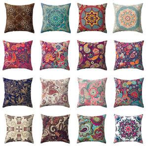 FJ-AS-Colorful-Flower-Peach-Skin-Pillow-Case-Waist-Cushion-Cover-Home-Decor-Re