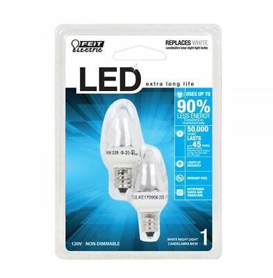 Feit Electric BP71//2S//W//LED 0.6W 30 Lumens Soft White S11 LED Night Light Bulb