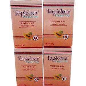 4-Pack-Topiclear-Papaya-Soap-Skin-Moisturizer-Jabon-Humectante-Hidratante-Piel