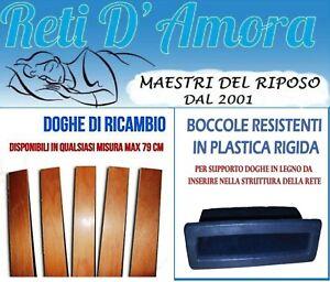 KIT 5 DOGHE DI RICAMBIO PER LETTO 79x6.8cm + 10 BOCCOLE PER RETE A ...