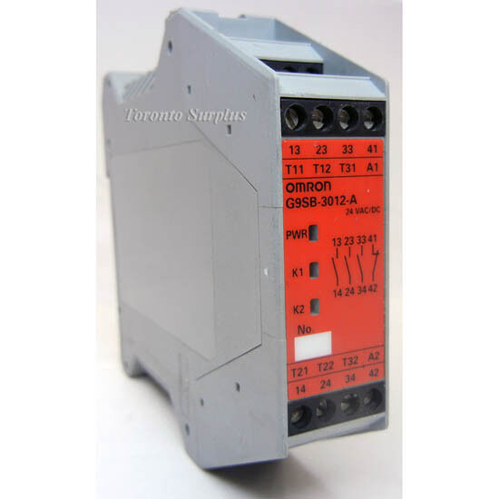 OMRON G9SB-3012-A SAFETY RELAY UNIT 2 CHANNEL AUTO RESET INPUT 24VAC VDC TESTED