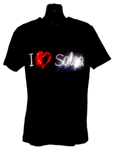 I LOVE DANCE Childrens T Shirt CRYSTAL Rhinestone Dance Design...Kids any size