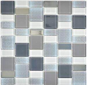Glasmosaik-Fliese-rauch-Kombination-schillernd-Fliesenspiegel-Kueche-68-0216F