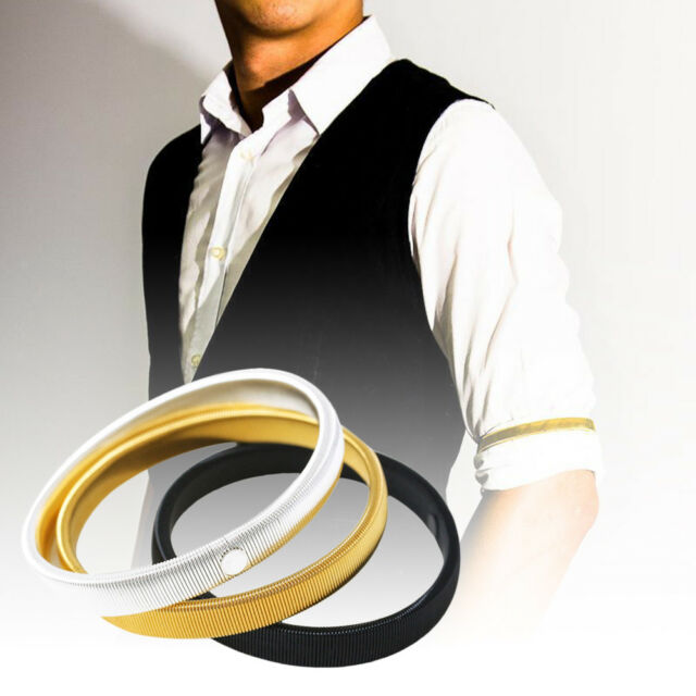 2 x Mens Shirt Sleeve Holder Arm Bands Men Sleeves Hold Ups Elasticated Armband