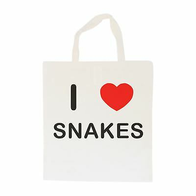 I Love Snakes - Cotton Bag | Size choice Tote, Shopper or Sling