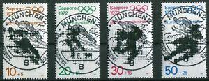 Bund-680-683-zentrische-Vollstempel-Muenchen-ESST-LUXUS-gestempelt-Gummi-BRD
