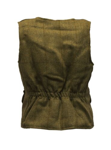 Walker /& Hawkes Baby Kids Tweed Waistcoat Bodywarmer Fitted Gilet Wool SAGE