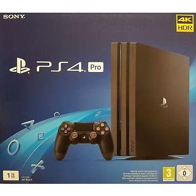 Sony PlayStation 4 Pro 1TB Konsole, Jet Black, CUH-7216B - Neu & OVP Händler