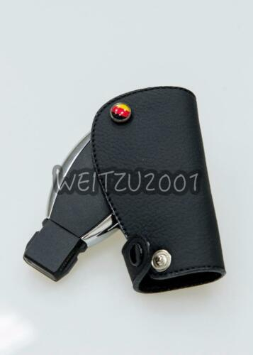 Black AMG Mercedes-Benz Smart Key W221 W220 SLK leather Key Case