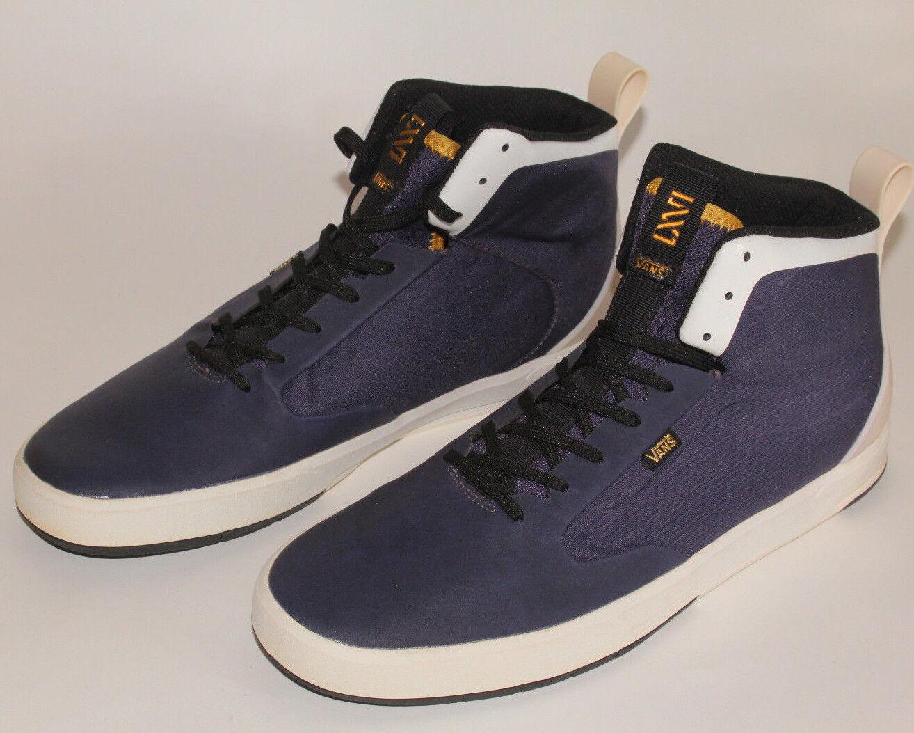 New Vans LXVI Segment Men's Shoes 0VG9CA4 Dark Blue-White-Gold Men`s US Size 9