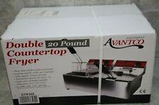 Avantco 177f102 20lb Commercial Restaurant Dual Tank Electric Countertop Fryer