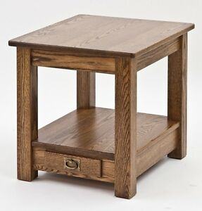 Mission style arts and crafts end table 4861 ebay for Arts and crafts style table