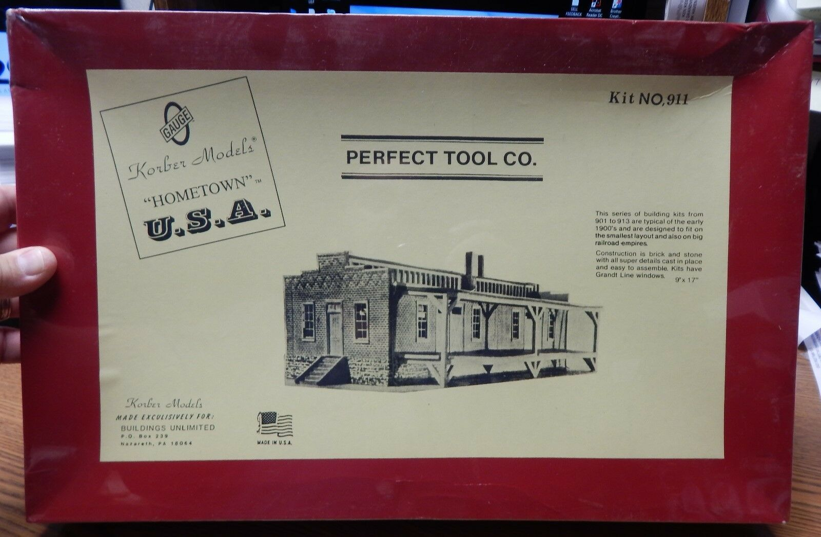 KORBER MODELS 911 PERFECT TOOL CO  BUILDING KIT NEW IN BOX O SCALE