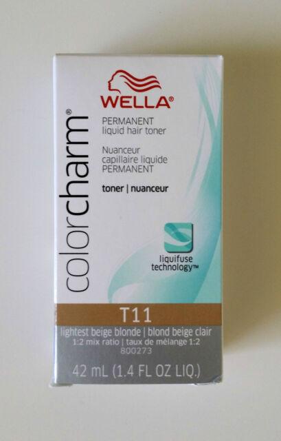 Wella Color Charm T11 Lightest Beige Blonde Permanent Hair Toner Colour
