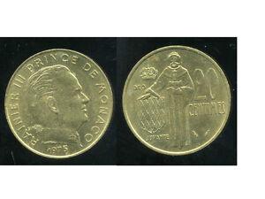 SûR Monaco 20 Centimes 1975 ( Bis )