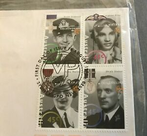 FIRST-DAY-ISSUE-STAMPS-1995-ON-ENVELOPE-AUSTRALIA-REMEMBERS-SERIES-WAR