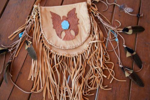 Turquesa turquesa cuero Fled Cowgirl Eagle Lakota Bag de Hand Boho 1HWz8YSc