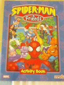 Marvel-Spider-Man-amp-Friends-album-vuoto-empty-activity-Book-del-2005-by-newlinks