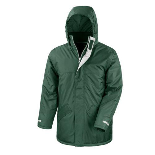 BURGUNDY RED GREEN BLACK BLUE 25/% Recycled Waterproof Winter Parka Jacket Coat