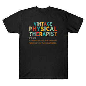 Vintage Physical Therapist Definition Meaning Vintage Men's T Shirt Cotton Gift