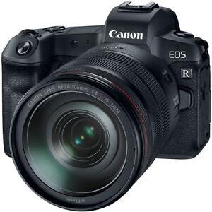 New-Canon-EOS-R-Mirrorless-Digital-Camera-RF-24-105mm-f4L-Lens-amp-Mount-Adapter