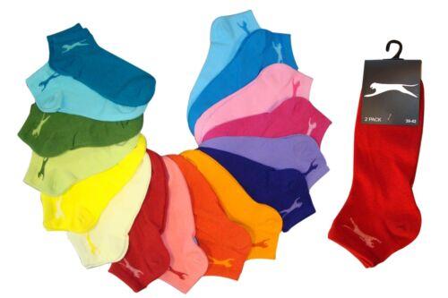 14 verschiedene Farben 14 Paar Slazenger Damen Sneakersocken MEGA-FARBAUSWAHL