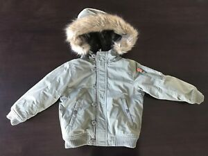 0dcb31e0ac8d NWT BabyGap Baby Gap Army Green Down Snorkel Parka Winter Coat 4T
