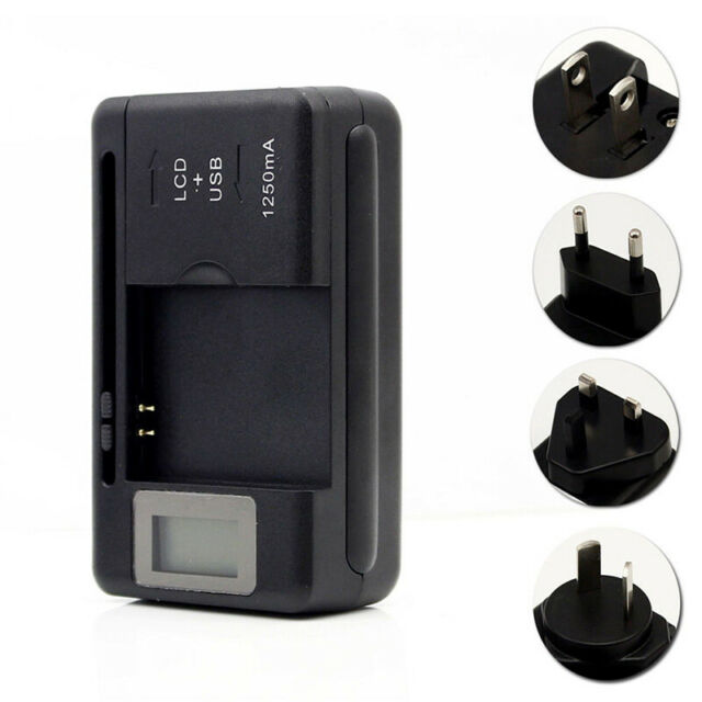 Universal Battery Charger LCD Indicator Screen Mobile For Cell Phones USB-Po NT