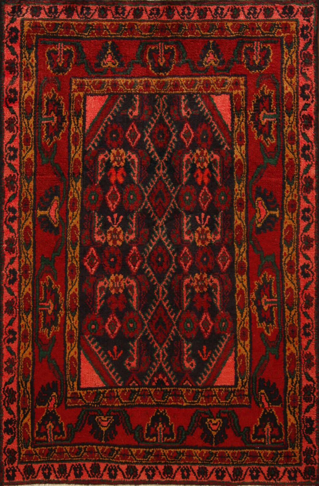 TAPPETO Orientale Vero Annodato Tapis persan n. 4601 (147 x 98) cm