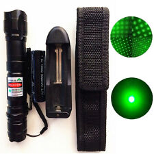 10 Miles Military 5mw Green Laser Pointer Pen Lamp 532nm Visible Beam + Battery