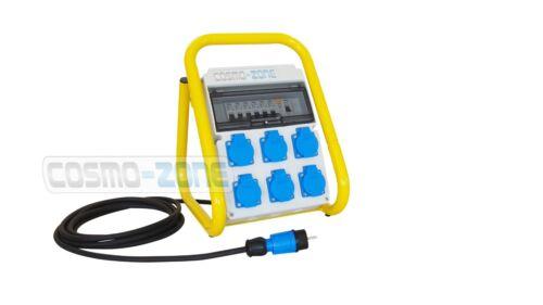 Tragbarer Mobilverteiler Baustromverteiler Steckdosenverteiler TR//FI//6-62