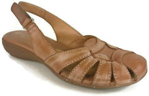 Naturalizer-N5-Comfort-Cyrus-Women-039-s-Tan-Leather-Slingback-Strap-Sandals-6-5-M