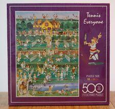 Tennis Everyone 500 pc F.X. Schmid Jigsaw Puzzle 18x24 NIB 1994 Court Racket