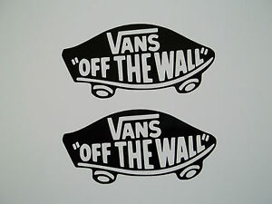 Details about 2 x Vans Off The Wall Vinyl Decal Stickers Skateboard Clothing Ski Skate Car