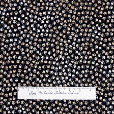 Pet Fabric - Brown Cat Dog Paw Print on Black - Timeless Treasures Cotton YARD