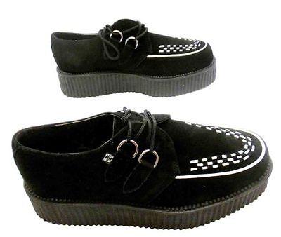 Tuk Av7270 T.U.K New Unisex Viva Lo Sole Creepers Shoes Black Suede A7270