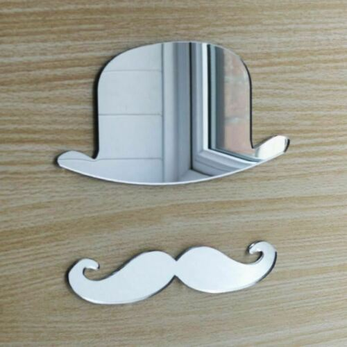Bowler Hat and Moustache Acrylic Mirror