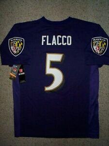 60) Baltimore Ravens JOE FLACCO nfl Jersey YOUTH KIDS BOYS (L-LG ...