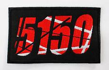 VAN HALEN 5150 HEAVY METAL EMBROIDERED PATCH BLACK SABBATH IRON MAIDEN