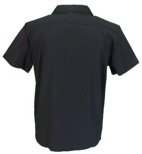Retro Black//Blue 50s Rockabilly Bowling Shirts